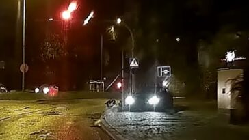 Kierowca Audi w akcji