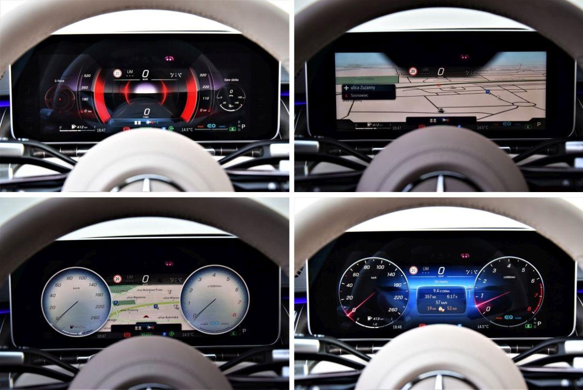 Mercedes-Benz S 2021 wskaźniki