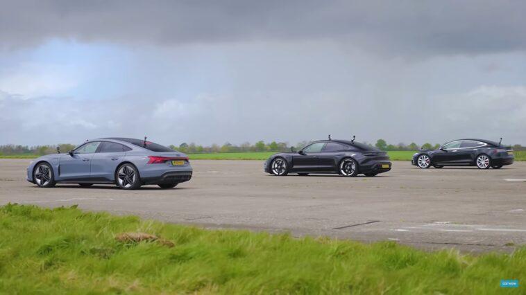 Audi RS e-tron vs Porsche Taycan vs Tesla Model S