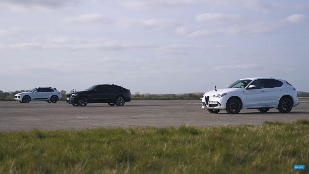 Alfa Romeo Stelvio Quadrifoglio vs BMW X4 M vs Porsche Macan Turbo