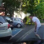 Stłuczka i ucieczka na parkingu w Bielsku-Białej