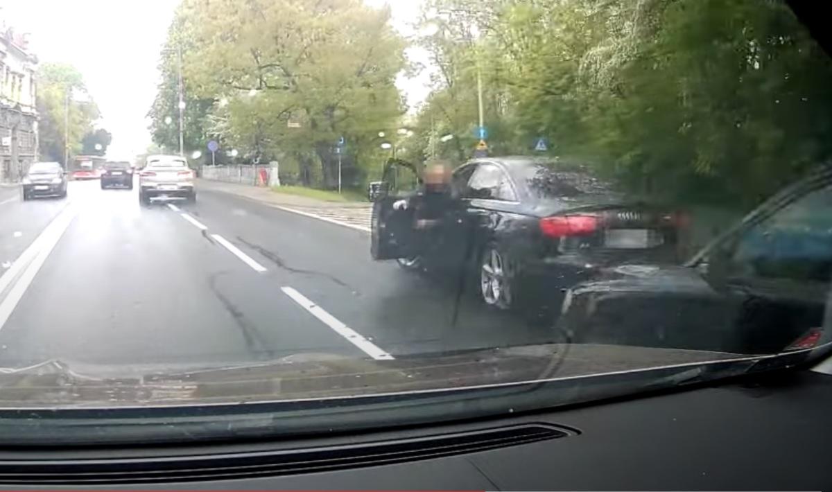 Agresor w Audi z Bielska-Białej