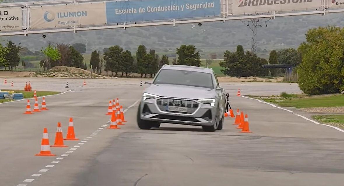 Audi e-tron Sportback test łosia