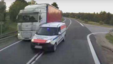 Niebezpieczne wyprzedzanie pojazdem uprzywilejowanym