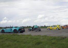 Peugeot 306 vs Aventador and rallycross cars