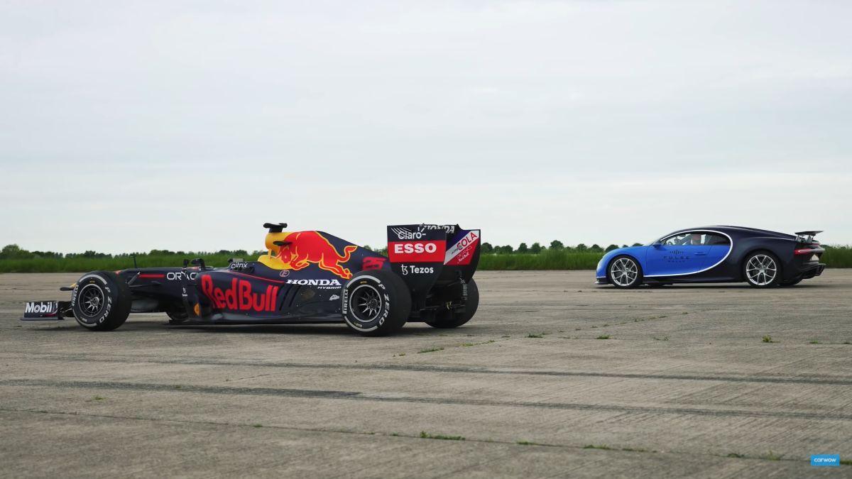 Red Bull F1 car vs Bugatti Chiron