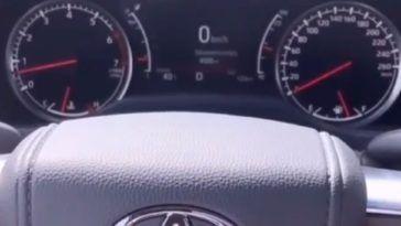 Toyota Land Cruiser 2021 3.5 V6 Turbo acceleration