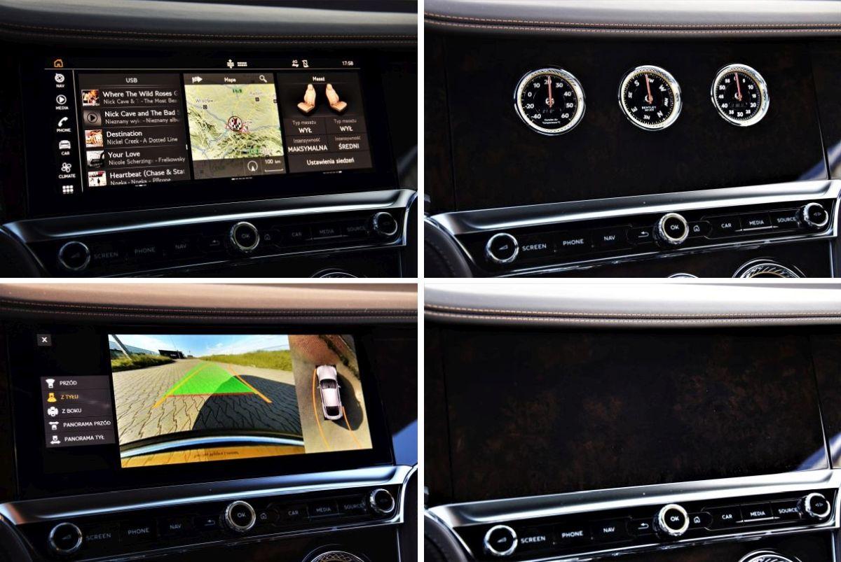 Bentley Continental GT V8 - ekran multimedialny