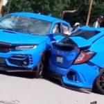 Honda Civic Type R accident