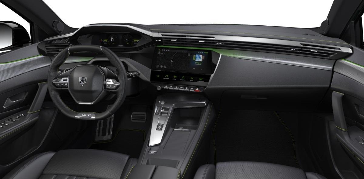 Peugeot 308 GT Pack 2021 wnętrze
