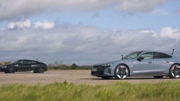 Audi e-tron GT vs Audi R8 V10