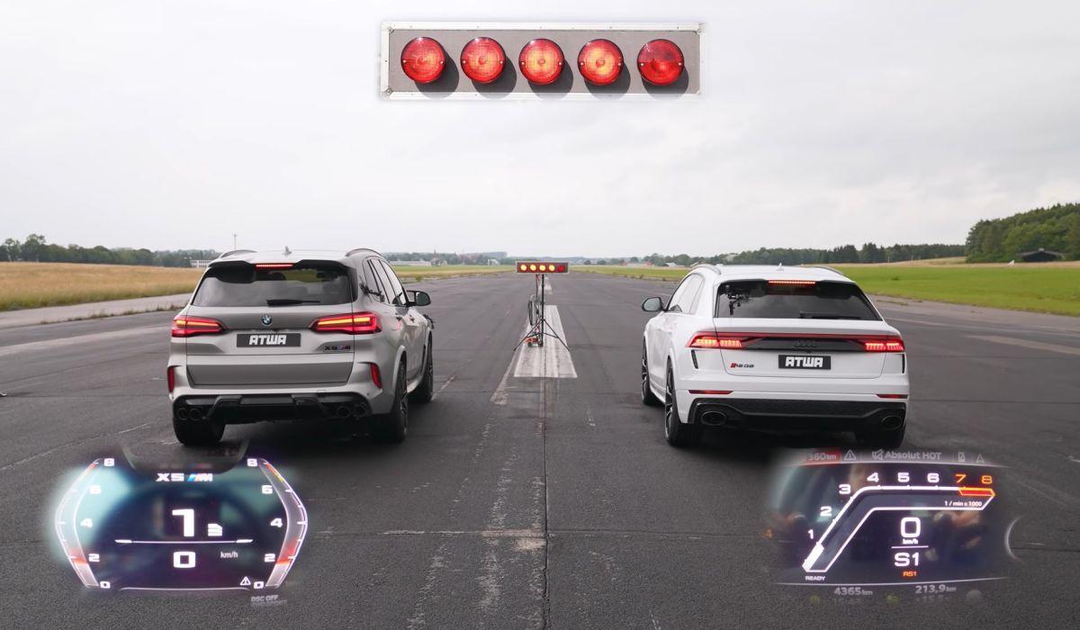 Audi RS Q8 vs BMW X5M Competition
