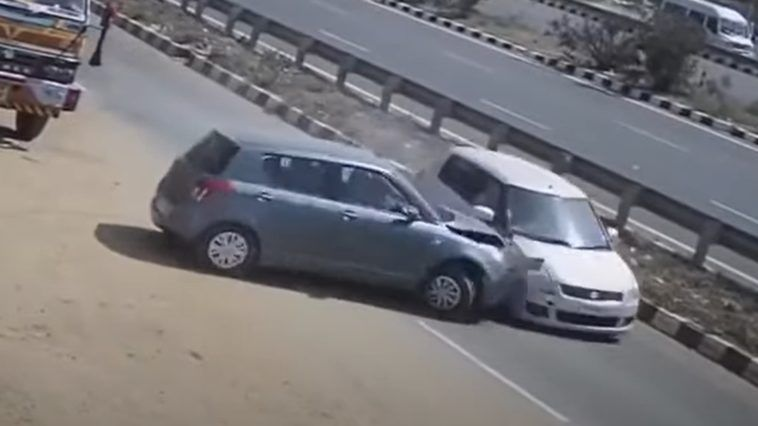 Zderzenie dwóch Suzuki