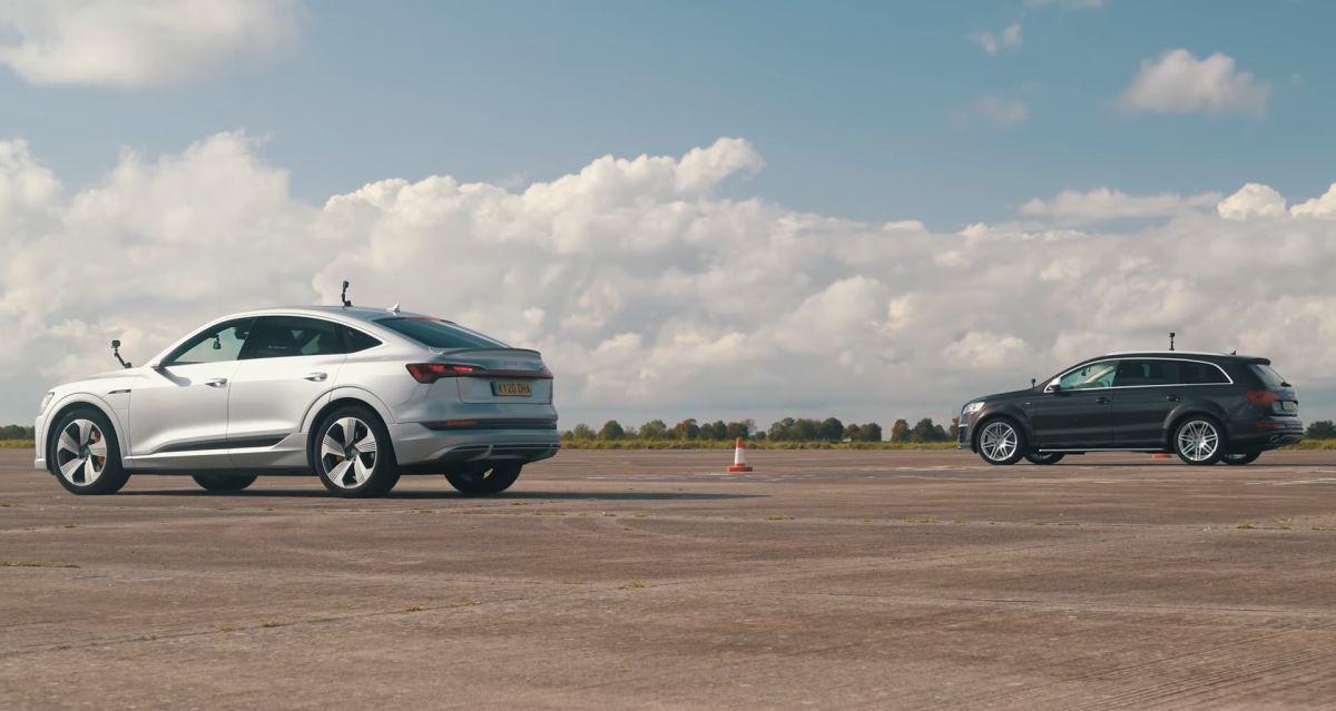 Audi Q7 V12 TDI vs Audi e-tron