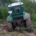Zakopanie ciągnika
