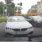 Audi i BMW wyprzedzanie w mieście