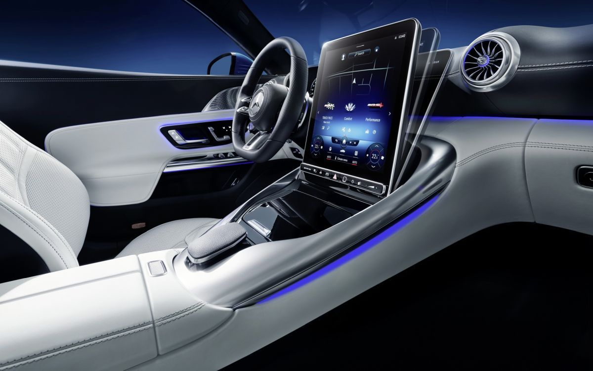 Mercedes SL regulowany ekran