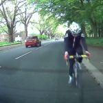 Zderzenie rowerzysty z samochodem