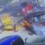 Nietrzeźwa kobieta doprowadziła do wypadku na stacji paliw