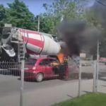 Gaszenie płonącego samochodu