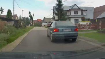 Nieudana ucieczka kierowcy BMW E36
