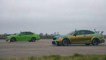 Mercedes C 63 AMG Black Series vs BMW M3 Evolve