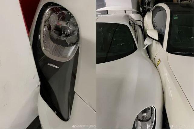 Uszkodzone Porsche 918