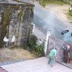Zderzenie z ogrodzeniem - dachowanie