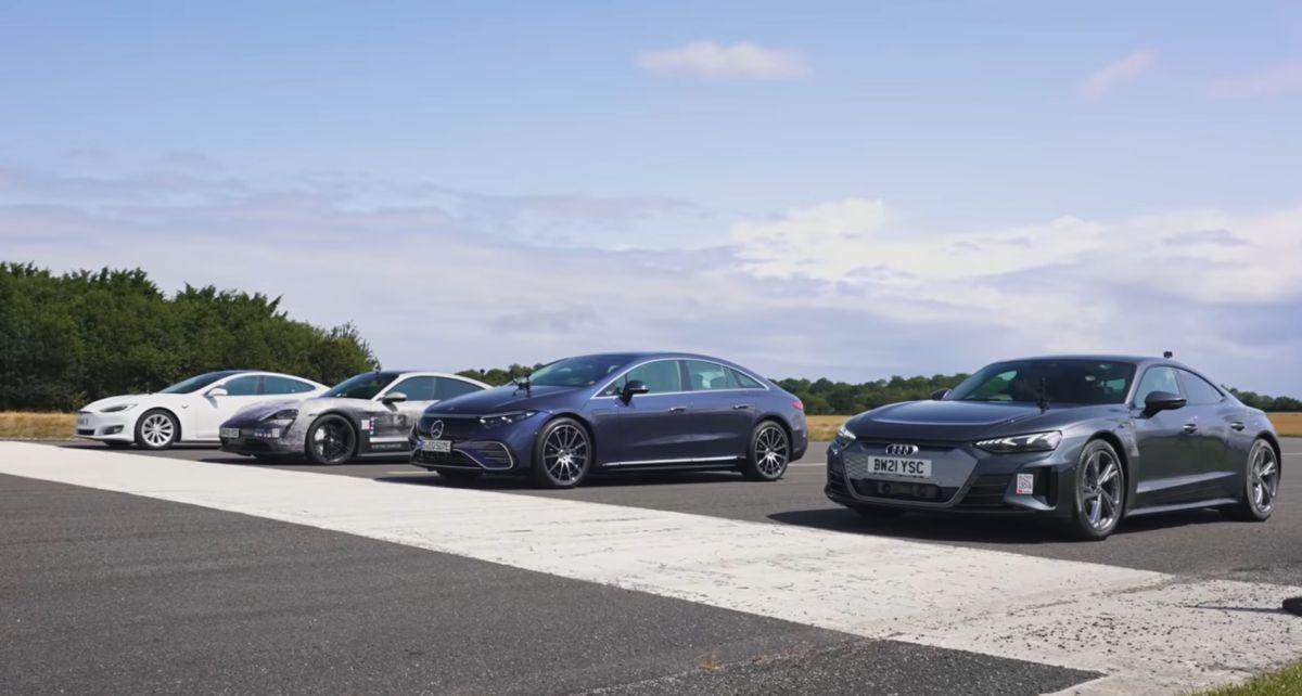 EQS vs e-tron vs Taycan vs Model S