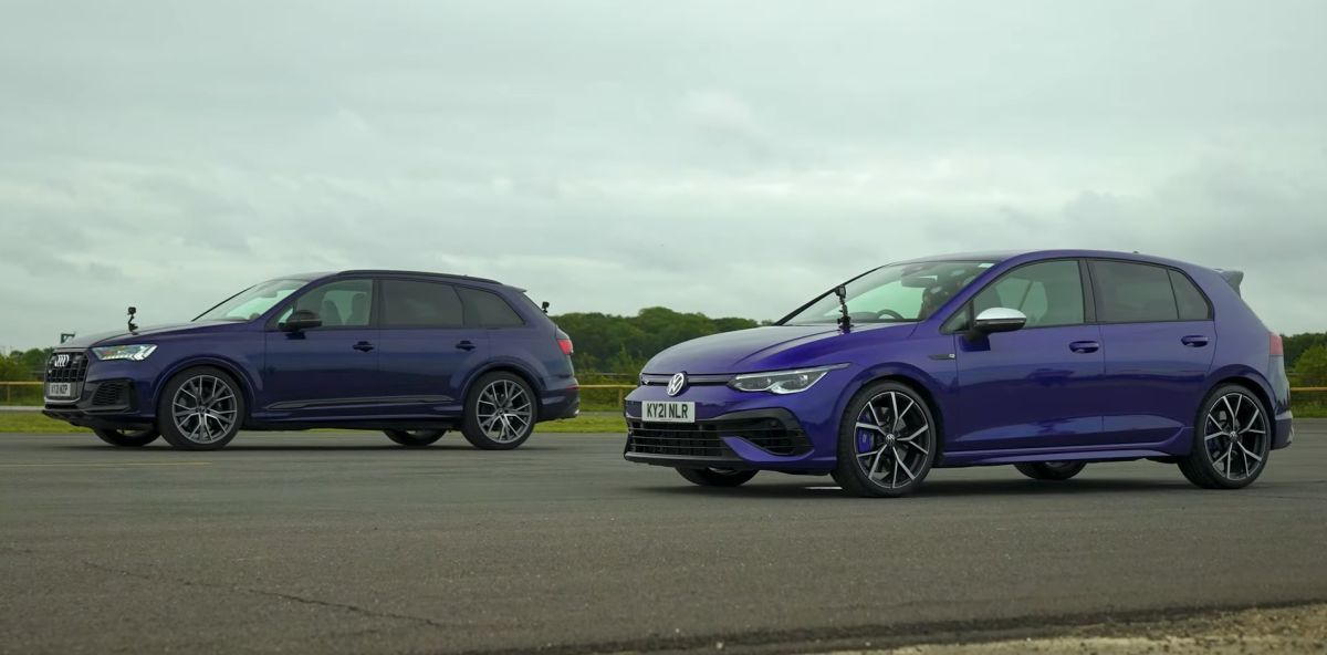 VW Golf R vs Audi SQ7
