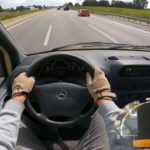 Sprinter Diesel na niemieckiej autostradzie