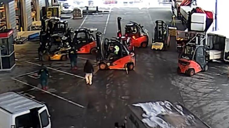Interwencja operatorów wózków widłowych