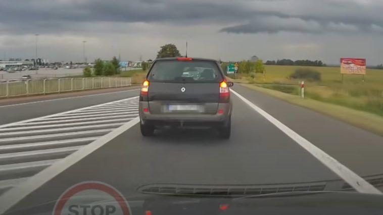 Agresywny kierowca w Gliwicach przy zjeździe na A4