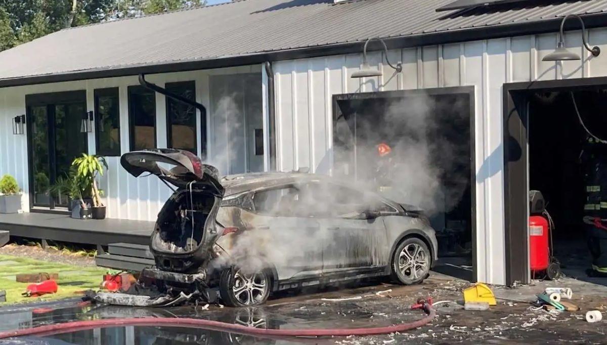 Chevrolet Bolt pożar