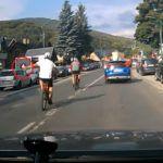 Lekkomyślne zachowanie rowerzystów w Szczyrku