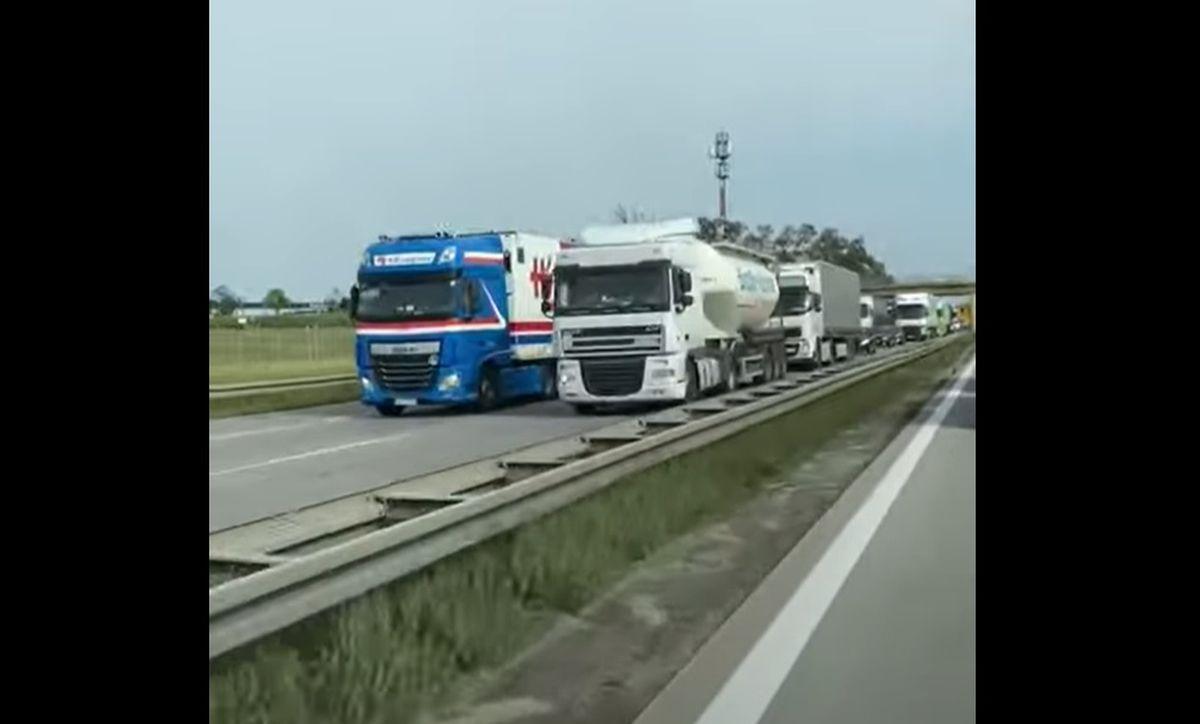 Blokowanie autostrady A4