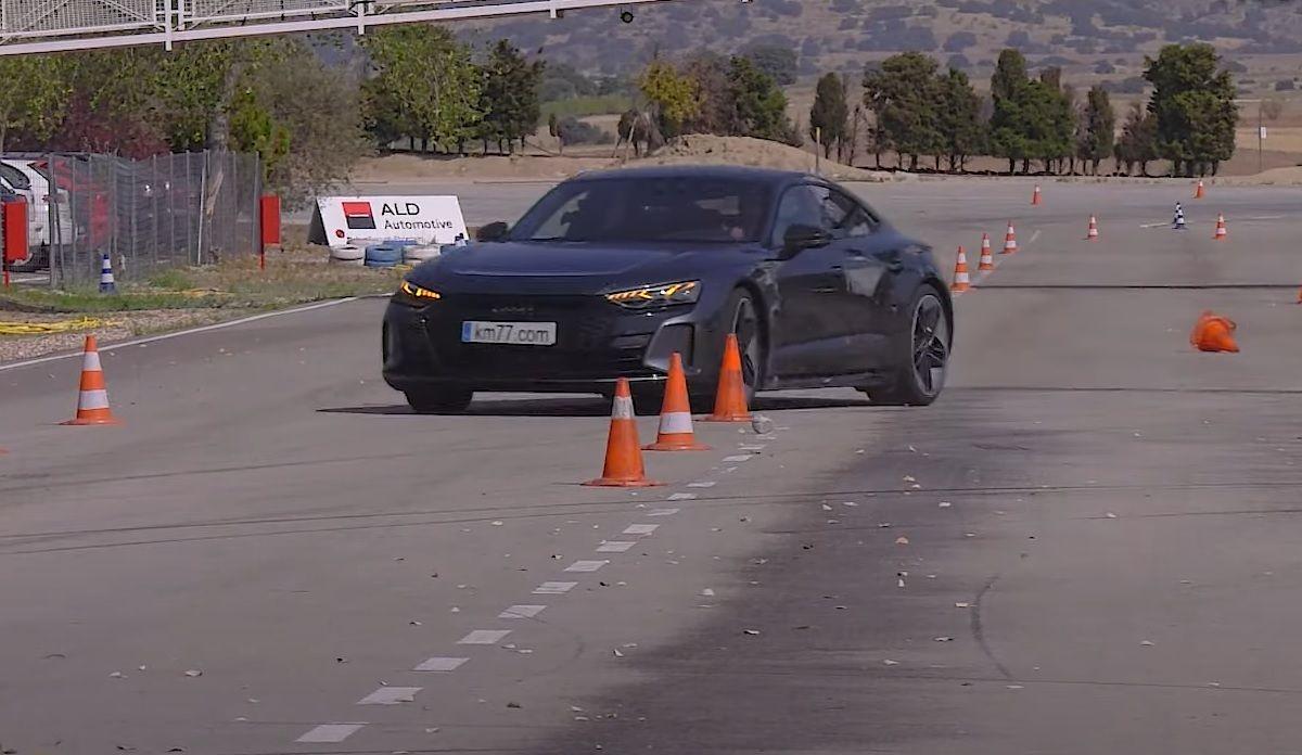 Audi e-tron GT - test łosia