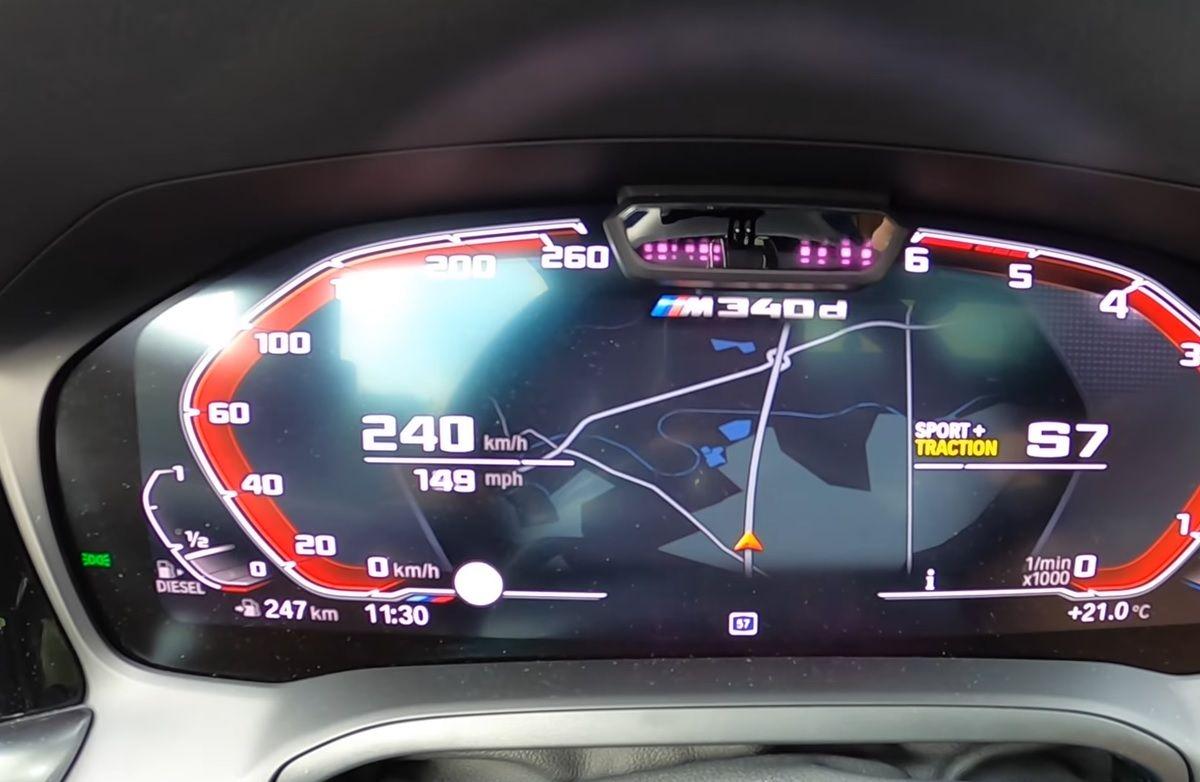 BMW M340d G21 acceleration
