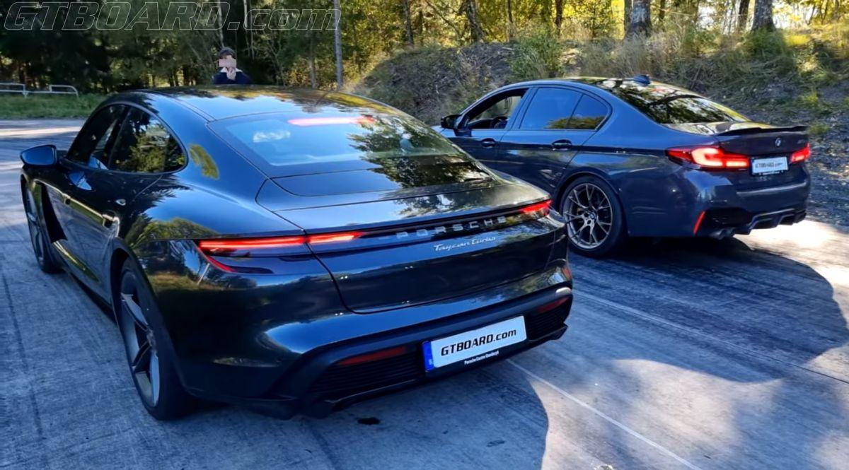 BMW M5 CS vs Porsche Taycan Turbo