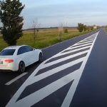 Niebezpieczne wyprzedzanie za kierownicą Audi