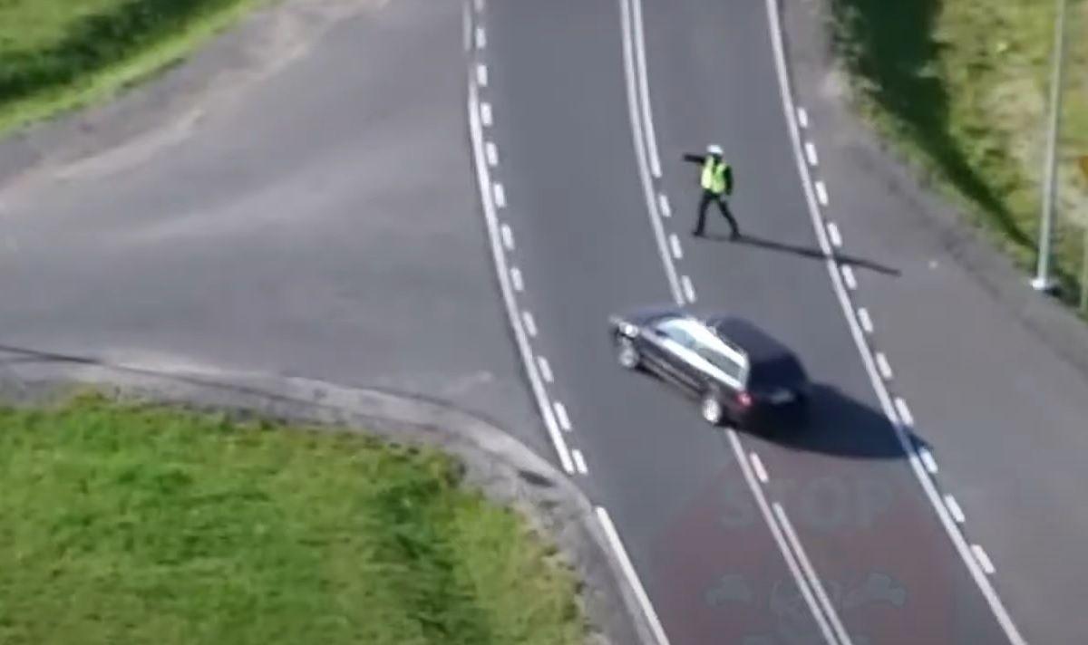 Akcja z policyjnym dronem