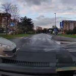 Kolizja na skrzyżowaniu, Kraków, ul. Marii Dąbrowskiej