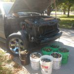 Komora silnika wypełniona orzechami