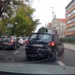 Przejaw braku kultury jazdy w Szczecinie